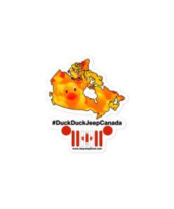 #DuckDuckJeep Canada Bubble-free stickers Stickers Canada