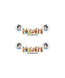 Snow White & 7 Dwarfs Jeep Grille Bubble-free stickers (X2) Stickers Snow White