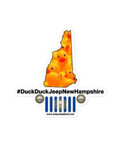#DuckDuckJeep New Hampshire Bubble-free stickers Stickers DuckDuckJeep