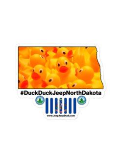 #DuckDuckJeep North Dakota Bubble-free stickers Stickers DuckDuckJeep