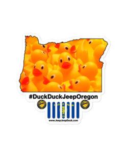 #DuckDuckJeep Oregon Bubble-free stickers Stickers DuckDuckJeep