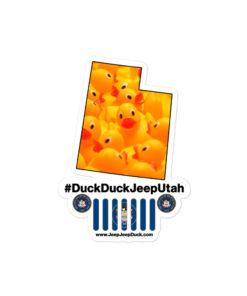 #DuckDuckJeep Utah Bubble-free stickers Stickers DuckDuckJeep