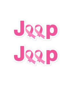 Jeep Breast Cancer Logo 2 Bubble-free stickers (X2) Stickers Breast Cancer