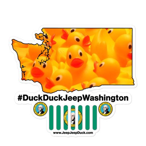 #DuckDuckJeep Washington Bubble-free stickers Stickers DuckDuckJeep