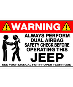 Dual Airbag Safety Check Bubble-free stickers Stickers Other