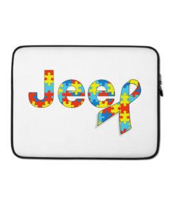 Autism Awareness Jeep Logo Laptop Sleeve Laptop Cases Autism Awareness