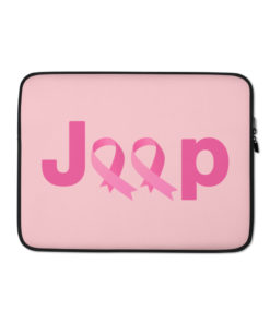 Jeep Breast Cancer Logo 2 Laptop Sleeve Laptop Cases Breast Cancer