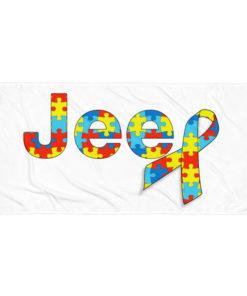 Autism Awareness Jeep Logo Towel Towels Autism Awareness