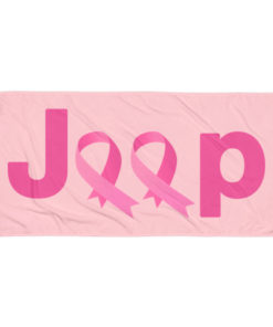Jeep Breast Cancer Logo 2 Towel Towels Breast Cancer