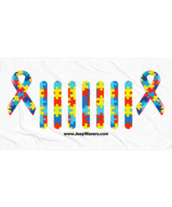 Autism Awareness Jeep Grille Towel Towels Autism Awareness