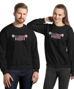 Jeep USA Seal Grill Unisex Sweatshirt (Dark Colors) Sweatshirts USA