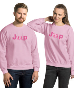 Jeep Breast Cancer Logo Unisex Sweatshirt Sweatshirts Breast Cancer