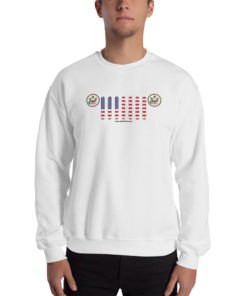 Jeep USA Seal Grill Unisex Sweatshirt Sweatshirts USA