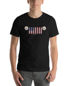 Jeep USA Seal Grill Short-Sleeve Unisex T-Shirt (Dark Colors) T-Shirts USA