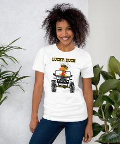 Lucky Duck Jeep Short-Sleeve Unisex T-Shirt T-Shirts DuckDuckJeep