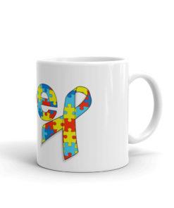 Autism Awareness Jeep Logo White glossy mug Mugs Autism Awareness