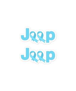 Jeep Trisomy 18 Awareness Logo Bubble-free stickers X2 Stickers Trisomy 18