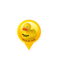 DuckDuckJeep Me Here Bubble-free stickers Stickers DuckDuckJeep