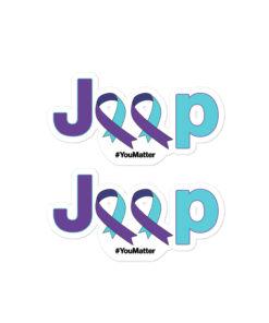 Jeep Suicide Prevention Awareness Ribbon Logo Bubble-free stickers Stickers Suicide Prevention Awareness