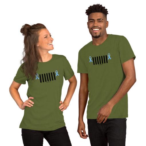 Jeep Trisomy 18 Awareness Grille Logo Short-Sleeve Unisex T-Shirt T-Shirts Trisomy 18