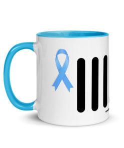 Jeep Trisomy 18 Awareness Grille Logo Mug with Color Inside Mugs Trisomy 18