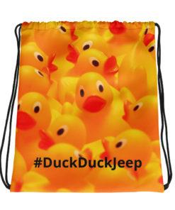 #DuckDuckJeep Drawstring bag Drawstring DuckDuckJeep