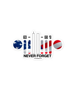 9-11-01 Never Forget Jeep USA Flag Grille Bubble-free Sticker Stickers 9-11