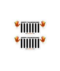 Thanksgiving Jeep Grille Bubble-free stickers (X2) Stickers Thanksgiving