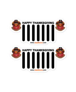 Duck Duck Jeep Thanksgiving Jeep Grille Bubble-free stickers (X2) Stickers DuckDuckJeep