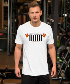 Thanksgiving Jeep Grille Short-Sleeve Unisex T-Shirt T-Shirts Thanksgiving