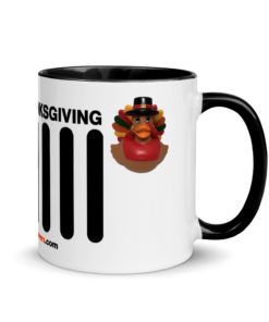 Duck Duck Jeep Thanksgiving Jeep Grille Mug with Color Inside Mugs DuckDuckJeep