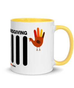 Thanksgiving Jeep Grille Mug with Color Inside Mugs Thanksgiving